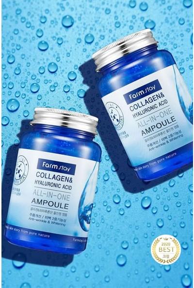 Farmstay Marine Deniz Collagen Hyaluronic Acid Kırışıklık Karşıtı ve Aydınlatıcı All-In-One Ampoule Cream