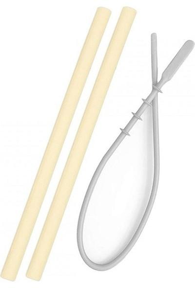 Oioi Silikon Pipet 2li ve Temizleme Fırçası Sarı