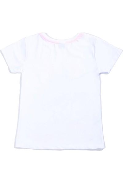Whoops Nanu Beyaz Erkek Çocuk Dinazor Baskılı Tişört
