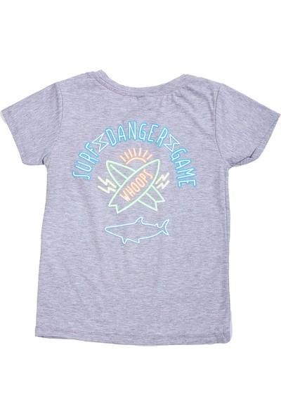 Whoops Nanu Gri Melanj Erkek Çocuk Sırt Baskılı Tişört