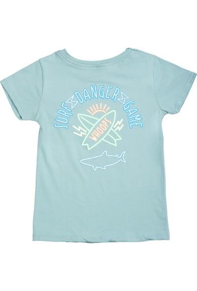 Whoops Nanu Mint Erkek Çocuk Sırt Baskılı Tişört