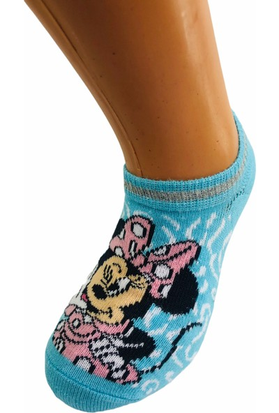 Çimpa Mınnıe Mause Çizgi Film Karakterli Pamuk Sneaker Çocuk Çorabı