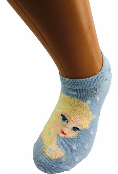 Çimpa Frozen Çizgi Film Karakterli Pamuk Sneaker Çocuk Çorabı