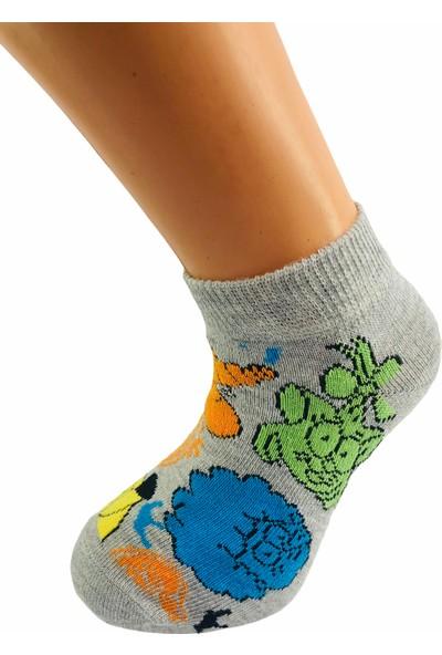 Çimpa Kral Şakir Çizgi Film Karakterli Pamuk Patik Çocuk Çorabı