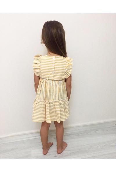 Ebruli Kız Çocuk Yazlık Şık Elbise
