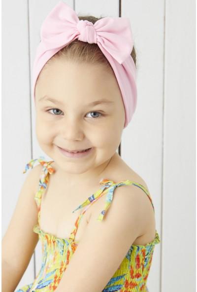 Babygiz El Yapımı Yumuşak Fiyonk Bağlamalı Doğal %100 Pamuklu Penye 3'lü Bebek Çocuk Kız Bandana Seti