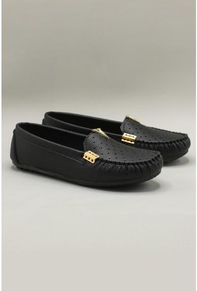 Carla Bella Rahat Babet Siyah Kadın Ayakkabı Fd-5