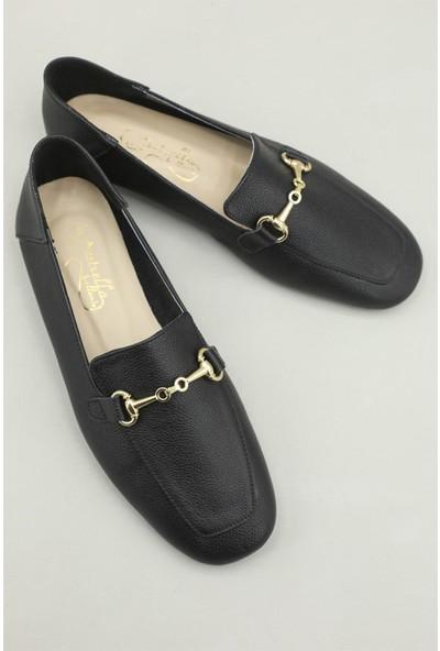 Estrella Günlük Nefes Alır Siyah Kadın Ayakkabı EST-0035