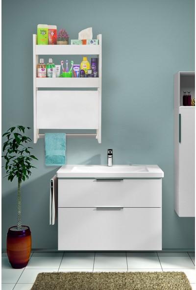 Ankaflex Banyo Dolabı Banyo Düzenleyici Rafı ve Havluluk Klozet Üstü Raf Banyo Dolabı Klozet Üstü Raf Mobilya