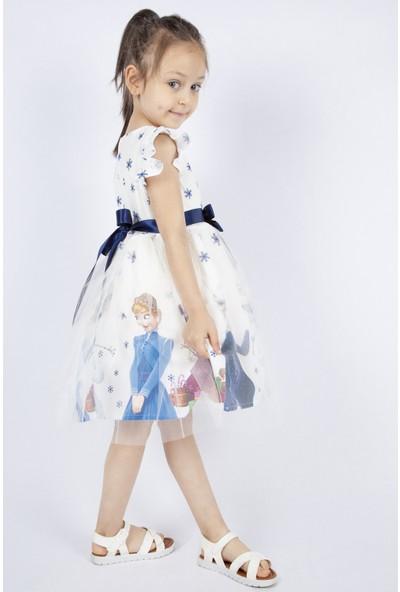 Pumpido Beyaz Karlar Kraliçesi Elsa Elbisesi