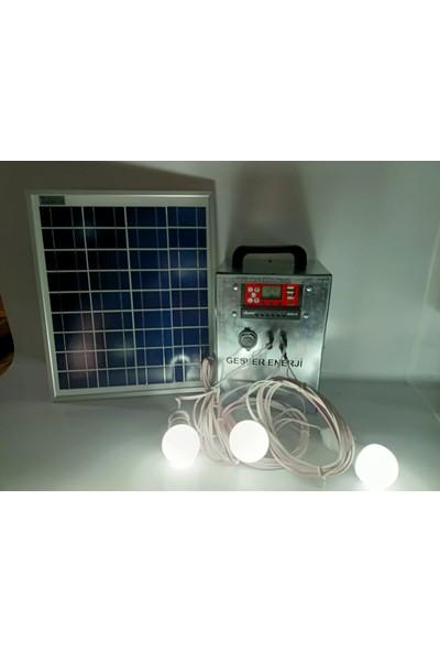 Gesper Taşınabilir Solar Aydınlatma Sistemi 3 Lambalı
