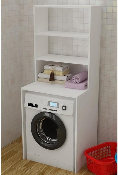 Bayz Raflı Çamaşır Makinası Kurutma Makinası Dolabı Düzenleyici