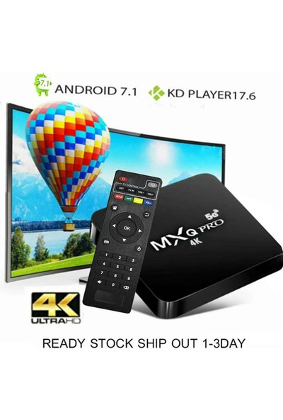 Generic Smart Tv Box Mxq Pro 4K Android 7.1 Tv Box Amlogic S905W 4 Çekirdekli 1GB 8GB (Yurt Dışından)