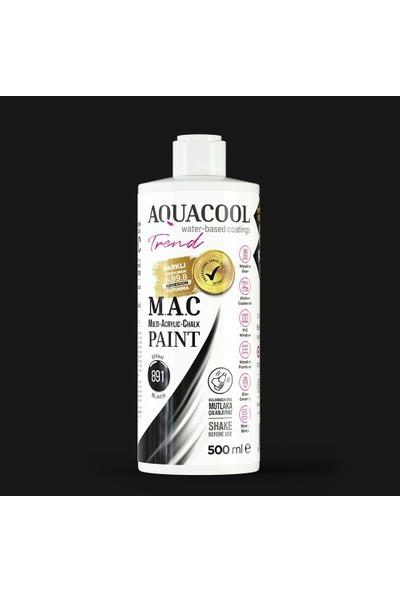 Aquacool Trend M.a.c Hobi Boyası Su Bazlı Akrilik 500 ml 891 - Siyah
