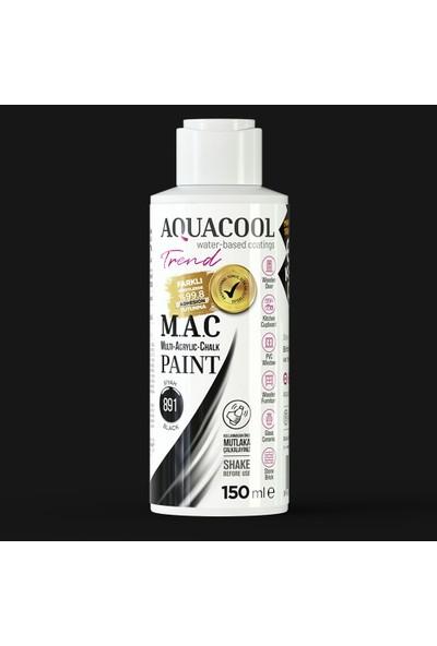 Aquacool Trend M.a.c Hobi Boyası Su Bazlı Akrilik 150 ml 891 - Siyah