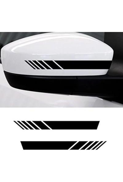 Dijit Online Dijitonline Ayna Şerit Sticker Yapıştırma | Araç Ayna Sticker 2 Adet 20X3 cm