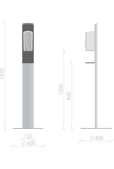 Hygiene Point Alüminyum El Dezenfektan Standı - Fotoselli Dispenser Beyaz