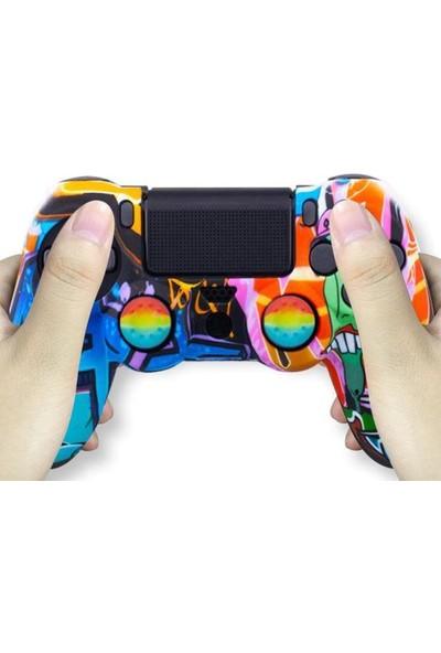 Konsol İstasyonu Eğlenceli Karışık Desenli Playstation 4 Ps4 Kol Kılıfı - Dualshock 4 Kılıf