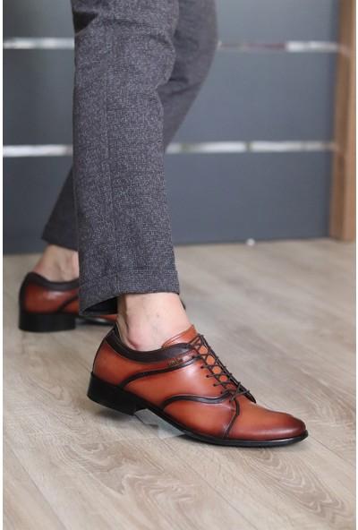 King West Erkek Kahverengi Sivri Burun Klasik Kundura Ayakkabı