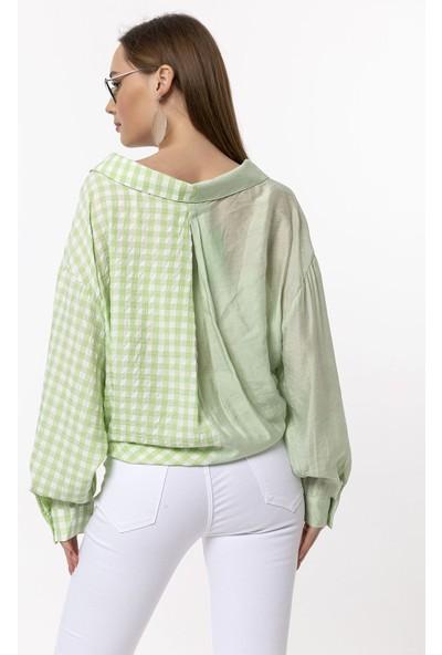 Coral Ekose Gömlek Mint Yeşili