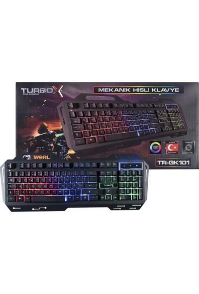 Turbox SniperNaga TR-GK101 USB Kablolu Gaming Standart Q Işıklı Metal Kasa Klavye