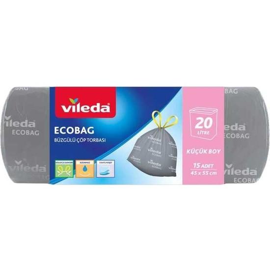 Vileda Ecobag Büzgülü Çöp Torbası 45X55CM Küçük Boy 15LI