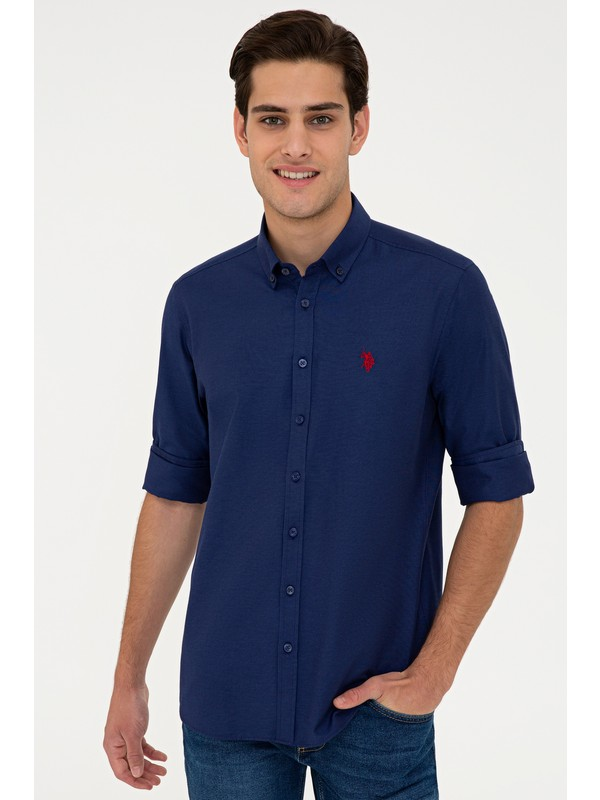 U.S. Polo Assn. Lacivert Gömlek Uzunkol Basic 50238007-VR033