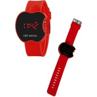 Zavira Elma Apple Şeklinde Dijital LED Watch Kol Saati Çocuk Saati Elma Saat