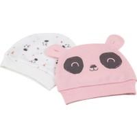 Bibaby Bi Organik Elegant Panda Şapka 2li 72116 Ekru
