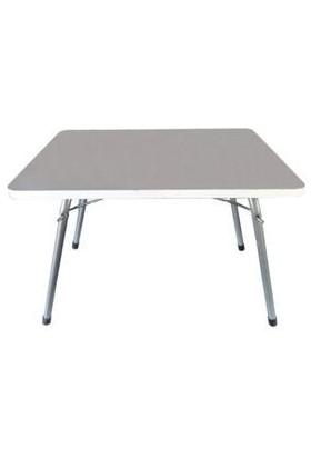 Marketonya 60X80 Beyaz Katlanır Masa + 1 Adet Yeşil Kamp Sandalyesi Katlanır Sandalye Piknik Plaj Sandalyesi