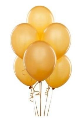 Balon Evi Metalik Gold Balon 12 Inç 10 Adet