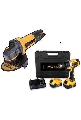 Jetta Power Tools Jetta Power 125 mm Taşlama & 36 V Şarjlı Matkap Seti