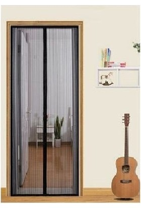 Siyah Kapı Sinekliği Mıknatıslı Kapı Sinekliği 2 Adet 105 x 205 cm