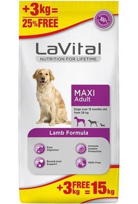 La Vital Lavital Büyük Irk Kuzu Etli Yetişkin Köpek Maması 12+3 kg