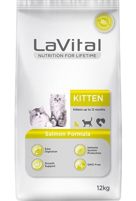 La Vital Lavital Kitten Somonlu Yavru Kedi Maması 12 kg
