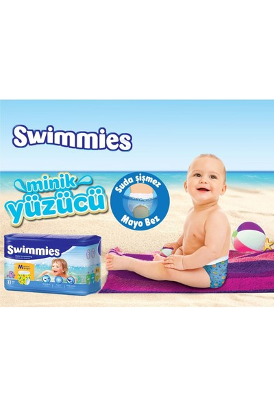 Swimmies Mayo Bebek Bezi Medium-Orta 12+Kg 264 Ad (24 Lü Set)