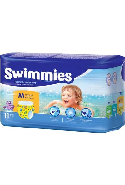 Swimmies Mayo Bebek Bezi Medium-Orta 12+Kg 198 Ad (18 Li Set)