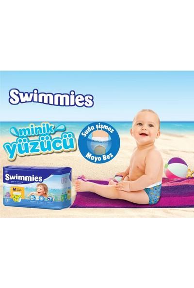 Swimmies Mayo Bebek Bezi Medium-Orta 12+Kg 132 'li (12 Li Set)