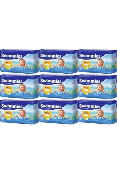 Swimmies Mayo Bebek Bezi Medium-Orta 12+Kg 99 'lu (9 Lu Set)