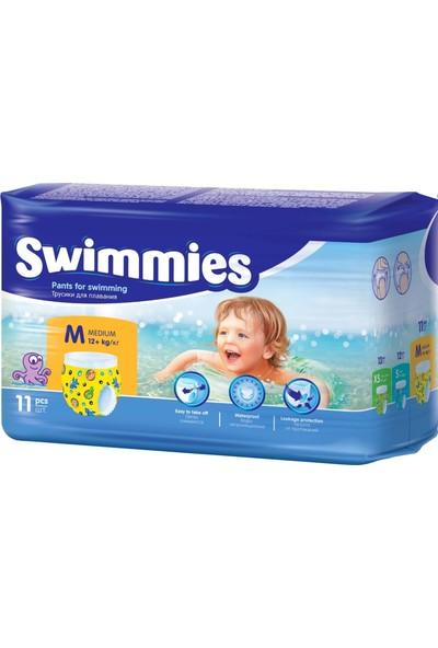 Swimmies Mayo Bebek Bezi Medium-Orta 12+Kg 66 Ad (6 Lı Set)