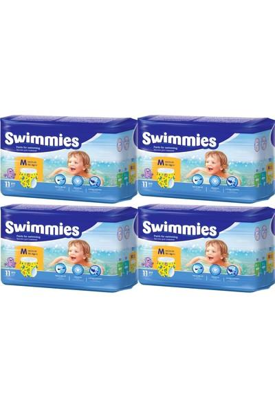 Swimmies Mayo Bebek Bezi Medium-Orta 12+Kg 44 Ad (4 Lü Set)