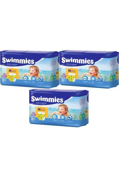 Swimmies Mayo Bebek Bezi Medium-Orta 12+Kg 33 Ad (3 Lü Set)