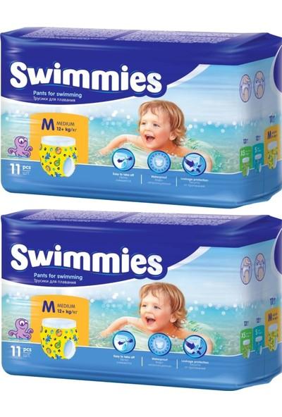 Swimmies Mayo Bebek Bezi Medium-Orta 12+Kg 22 Adet (2 Li Set)