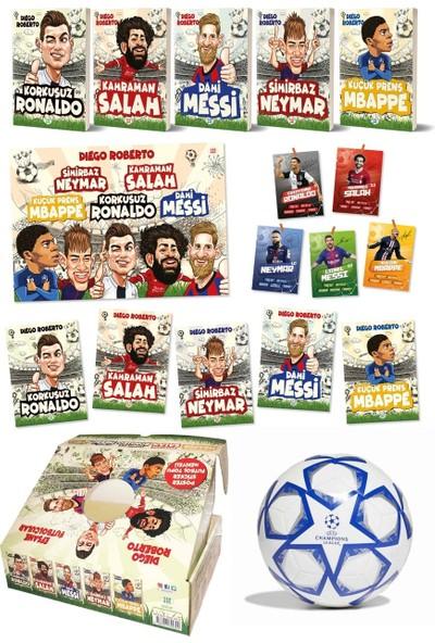 Efsane Futbolcular Kutulu Set (5 Kitap Takım- Futbol Topu Hediyeli) - Diego Roberto