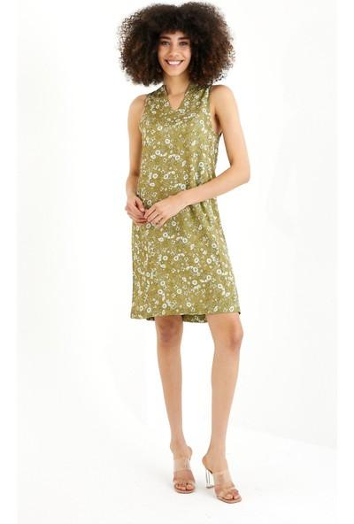 Vena Mıranda V Yaka Çiçekli Elbise