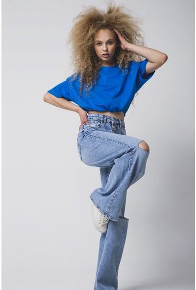 Vena Penny Sky Blue Denim Pantolon