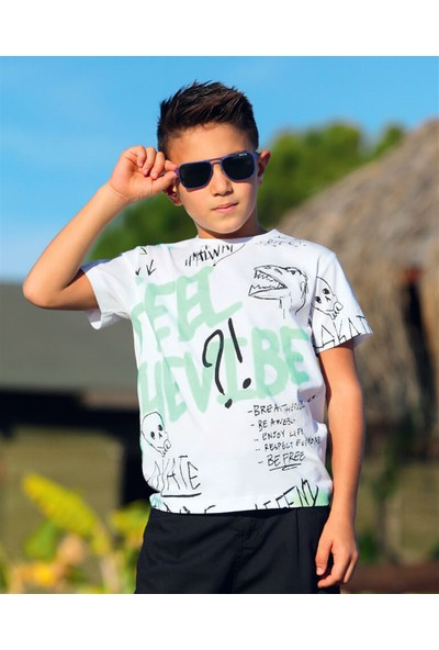 Jack Lions Erkek Çocuk Baskılı Tshirt