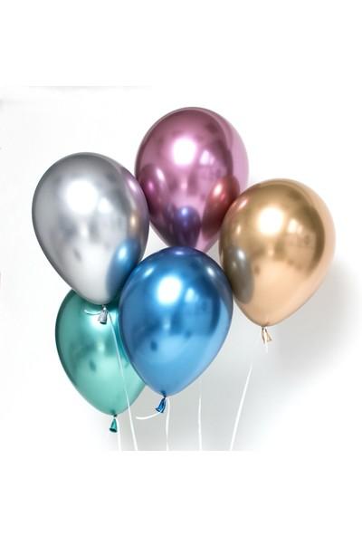 Balon Evi Krom Balon Karışık Renk 6 Inç 10 Adet