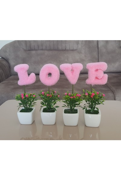 Moda Feneri Pembe Love Çiçek
