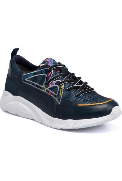 Teryy Lacivert Deri-Tekstil Erkek Ayakkabı 110026I49